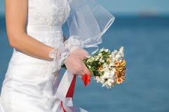 цветки невесты близкие вверх Стоковое Фото