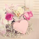 Цветки дня валентинок Стоковые Изображения