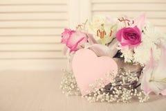 Цветки дня валентинок Стоковое Фото