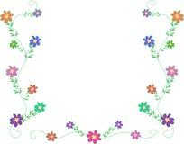 цветки обрамляют маленькая Стоковые Фото