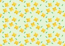 Цветки отрезанные бумагой желтые на предпосылке цвета Стоковая Фотография