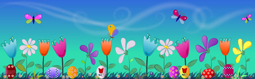 цветки пасхальныхя знамени Стоковая Фотография RF