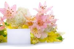 цветки поздравлениям карточки приветствуя Стоковое фото RF