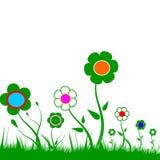 цветки покрашенные предпосылкой стоковая фотография rf