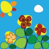 Цветки под горячим солнцем Стоковая Фотография
