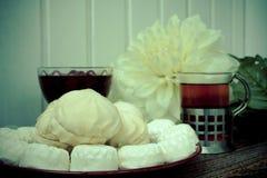 Цветки поленики варенья зефира еды Стоковые Изображения RF