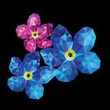 Цветки полигона Стоковые Изображения RF