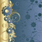 цветки предпосылки голубые темные Стоковое Фото