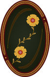цветки предпосылки темные обрамляют овал Стоковая Фотография RF