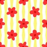 цветки предпосылки striped Просто флористическая безшовная картина бесплатная иллюстрация