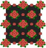Цветки предпосылки красные на черноте 1 Стоковая Фотография
