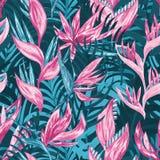 Цветки притяжки руки тропические Стоковые Фото