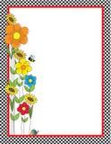 цветки проверок граници иллюстрация штока