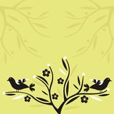 цветки птиц Стоковые Фото