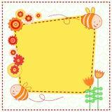 цветки пчел милые симпатичные Стоковое Изображение