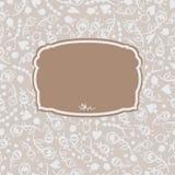 Цветки 1 рамки вектора безшовные декоративные Стоковое Изображение