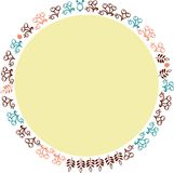 Цветки 1 рамки вектора декоративные Стоковое Изображение