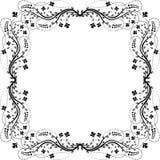 Цветки рамки Стоковое Изображение RF