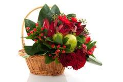 цветки рождества корзины Стоковая Фотография RF