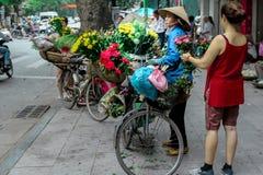 Цветки рынка Вьетнама Стоковая Фотография