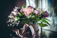 Цветки свадьбы в коробке Стоковая Фотография RF