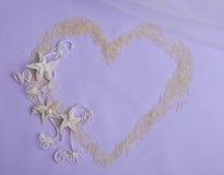 Цветки сердца и macrame риса Стоковые Фото