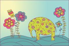 цветки слона бесплатная иллюстрация
