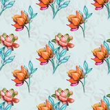 Цветки стиля для картины Стоковые Изображения