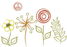 Цветки текстуры Стоковая Фотография