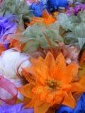 цветки ткани стоковые фотографии rf