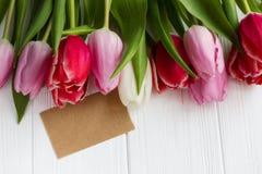Цветки тюльпана букета Стоковые Фотографии RF