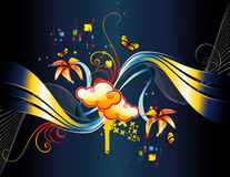 цветки фантазии предпосылки Стоковое фото RF