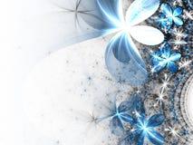 Цветки фрактали сияющей зимы тематические Стоковая Фотография RF