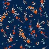 Цветки чувствительной безшовной свободы вектора картины маленькие флористическо бесплатная иллюстрация