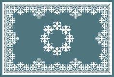 Цветки шнурка рамки Стоковое Фото
