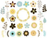 Цветки элегантного вектора одиночные Бесплатная Иллюстрация