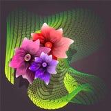 Цветки для карточки Стоковое фото RF
