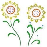 Цветки для пасхальных яя Стоковое фото RF