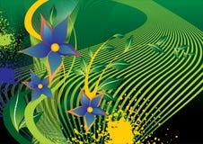 цветки backgroun иллюстрация вектора