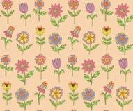 Цветки doodle безшовная картина вектора Стоковая Фотография RF
