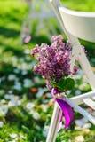 Цветки Ilac любят украшения на свадебной церемонии Стоковые Изображения