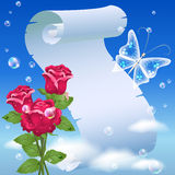 цветки parchmen иллюстрация вектора
