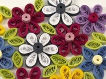 Цветки Quilling пестротканые Стоковое фото RF