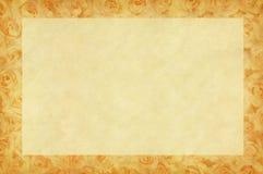 Цветки Rose на бумаге Стоковые Фотографии RF