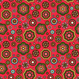 Цветки vector безшовная предпосылка Стоковое Фото
