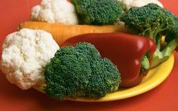 Цветная капуста, брокколи, моркови Стоковые Фото