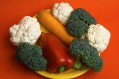 Цветная капуста, брокколи, моркови Стоковое Изображение RF