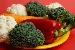 Цветная капуста, брокколи, моркови Стоковые Фотографии RF