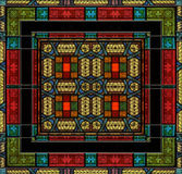 Цветное стекло или плитка средневекового типа Стоковое Изображение