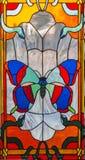 Цветное стекло - бабочка 2 Стоковые Фото